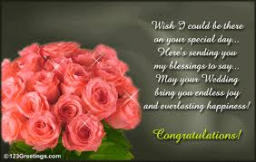 wedding wishes on card sending you my blessings free wishes ecards greeting cards 123