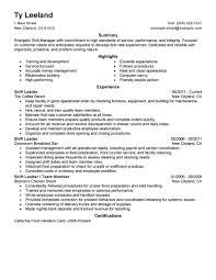 Job Resume Grocery Store by Best Hourly Shift Manager Resume Example Livecareer