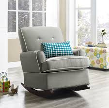 Nursery Rocking Chairs With Ottoman Dorel Living Baby Relax Tinsley Rocker Gray