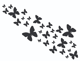 image gallery of flying butterfly stencil designs