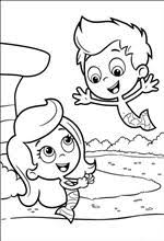 kids fun 25 coloring pages bubble guppies color pages