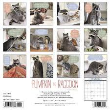 amazon com pumpkin the raccoon 2017 wall calendar 9781682343388