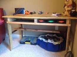 Diy Childrens Desk Diy Pallet Desk Pallet Furniture Diy Intended For Diy