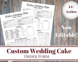 wedding cake order cake order form etsy