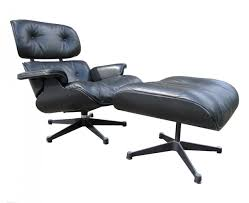 eames lounge chair ottoman black on black herman miller by vitra