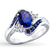 blue sapphires rings images Lab created sapphires sterling silver ring 134014808 kay jpg