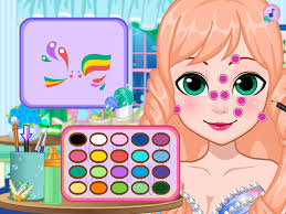 barbie mermaid game face painting barbie doll beauty games free