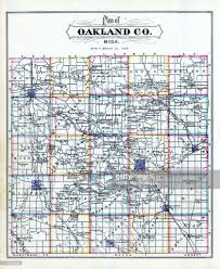 Michigan Counties Map by Michigan 1877 Oakland County Map Oakland County Stock Illustration