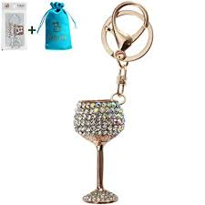 wine glass keychain bolbove white wine glasses shape keychain keyring