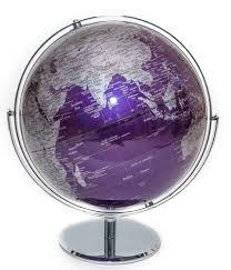 world globe home decor amazon com purple contemporary globe of the world 12