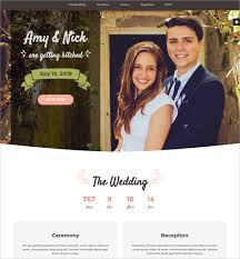 Best Wedding Invitation Websites 41 Html5 Website Themes U0026 Templates Free U0026 Premium Templates