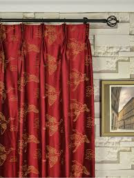 halo embroidered cranes rod triple pinch pleat dupioni silk curtains