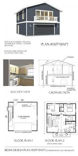 garage plans with apartment loft story plan excellent house best
