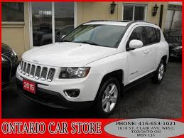 jeep crossover 2015 used 2015 jeep compass 2 00 high altitude leather sunroof bluetooth