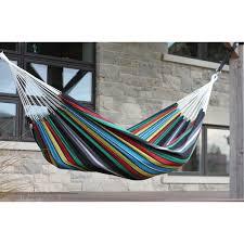 xl rustica stripe hand woven brazilian double hammock with fringe