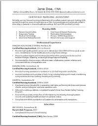 nursing assistant resume samples unforgettable nursing aide and