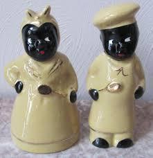 Novelty Salt And Pepper Shakers Black Americana Aunt Jemima U0026 Chef Salt U0026 Pepper Shaker Set