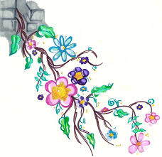 Flowers On Vines Tattoo Designs - a flower vine tattoo design photos pictures and sketches