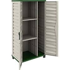 Outdoor Storage Cabinets With Shelves Amazon Com Garden Storage Cabinet With Vertical Partition Color