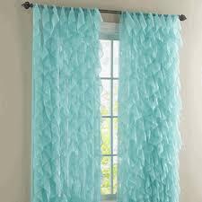 Sheer Ruffled Curtains Sheer Drapes And Curtains Cascade Vertical Ruffled Curtain Panel