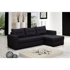 discount canapé canapé d angle 4 places lauris couleur noir ang achat vente