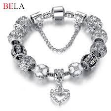 charm bracelet with beads images Fashion 925 antique silver charm bracelet jpg
