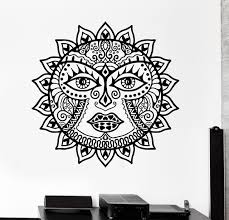 dsu classic sun flowers mandala wall decal scorpion ornament mural