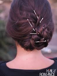 bun pins things with bobby pins hair