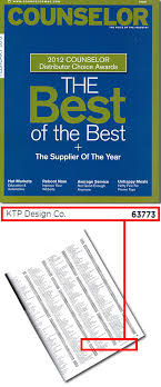 Counselor Distributor Choice Awards 2013 Ktp Design Company Press Room