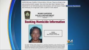 Seeking Miami Chief No To Reports Of Sniper In Miami Gardens Cbs