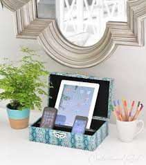 Decorative Charging Station | 27 diy charging station ideas to make more tidy cables