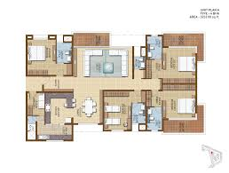 floor plan of sterling infinia a 3bhk apartments project for sale
