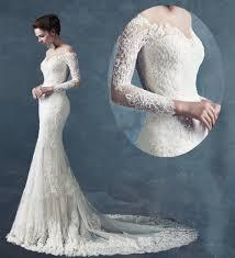 mermaid lace wedding dress long sleeves online superb wedding