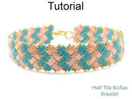 beading bracelet patterns images Bracelet beading tutorial pattern miyuki half tila beads jpg