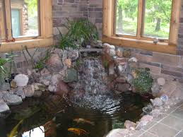 decoration beautiful luxury small indoor koi pond design ideas