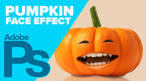 how to create a pumpkin face in photoshop youtube