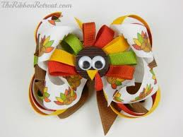 thanksgiving hair bows thanksgiving turkey bow the ribbon retreat