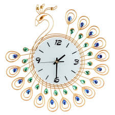 Decorative Wall Clocks For Living Room Compare Prices On Peacock Clock Online Shopping Buy Low Price