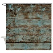 Turquoise Shower Curtains Rustic Western Turquoise Barn Wood Shower Curtain By Listing Store