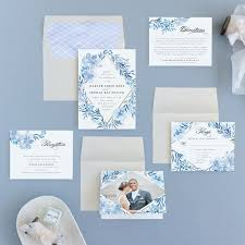 blue wedding invitations poetic blue wedding invitations by qing ji minted