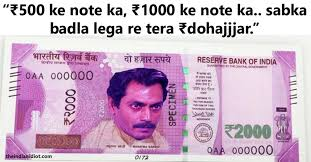 Meme Notes - memes trolls how india reacted to ban of 500 1000 notes with jokes