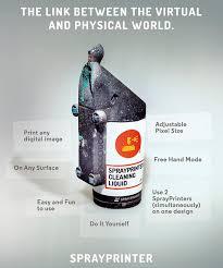 Do It Spray Paint - sprayprinter smart spray paint technology by sprayprinter