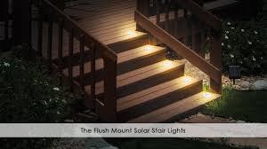 solar led deck step lights outdoor led step lighting kits outdoor designs