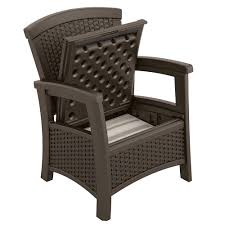 suncast elements outdoor storage club chair