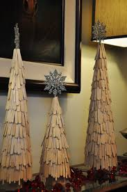 popsicle stick christmas trees christmas crafts pinterest