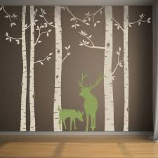 birch tree decals in an instant custom color wall decals