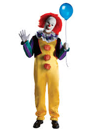 scary clown costumes deluxe pennywise costume
