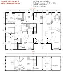 40x60 floor plan pre designed great plains western horse