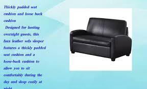 mainstays sofa sleeper black youtube