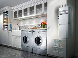 Washing Machine In Kitchen Design Narrow Fit Utility Sink Washer Dryer Cabinet Corner Laundry Sink